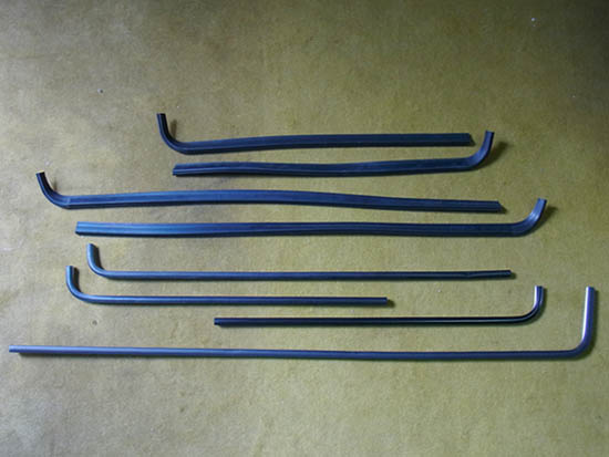 VW Golf Mk2 big door window seals / trims