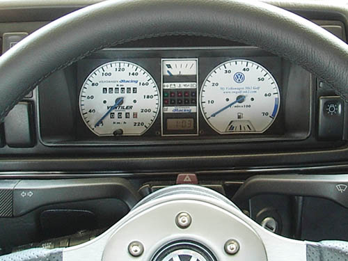 My Volkswagen Mk2 Golf / White gauge with LED